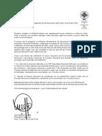 Carta Presidente Nacional AGSCh