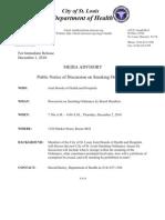 Department of Health Smoking Ban Press Release