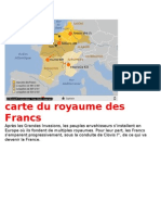 carte du royaume des Francs