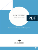 Lesson 7 Summary Notes Leadership culture and the changing nature of work