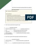 Latihan Menulis Pendahuluan karangan teknik pasang siap