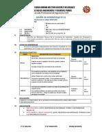 SESION DE APRENDIZAJE RESISTENCIA DE MATERIALES 2019 II CORREGIDO