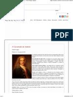 Como foi a conversão de Voltaire