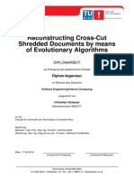 Reconstructing Cross-Cut Shredded Documents by means of Evolutionary Algorithms