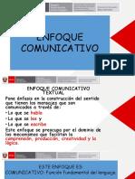 PPT ENFOQUE COMUNICATIVO TEXTUAL PACE
