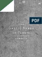 GaelicNamesOfPlants