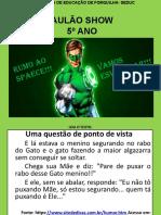 6º AULÃO- 5º ANO 2019