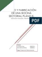 Bocina sectorial plano E