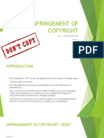 Infringement of Copyrights Ppt