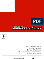 Owners Manual 360 Modena 2003 US