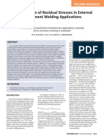 Quantification of Residual Stresses in External attachment welding application