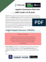 General Computer Awareness Notes for NABARD Grade a B 2018