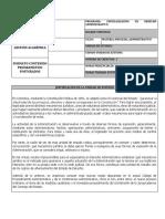 DERECHO PROCESAL ADMO PROGRAMA - UNIV SERGIO - BOGOTA