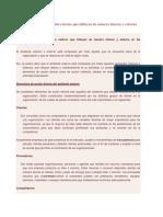 Elementos del ambiente externo que influyen de manera interna y externa en las organizaciones