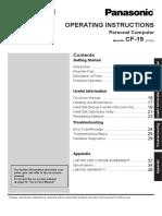 cf-19 mk1 Operating Instructions