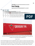 Canadian Tire Corp. - Supply Chain Best Practices