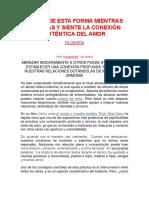 MEDITA DE ESTA FORMA MIENTRAS ABRAZAS Y SIENTE LA CONEXIÓN AUTÉNTICA DEL AMOR