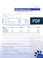 Diet-History-Form