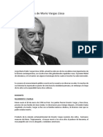 Biografía y obras de Mario Vargas Llosa