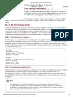 Tipos de servidores Samba y el archivo smb.conf