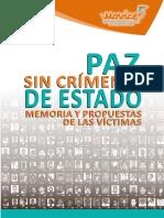 PAZ SIN CRÍMENES DE ESTADO PROPUESTAS DE LAS VÍCTIMAS