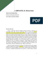 André-Jean Arnaud, In memoriam, Fariñas Dulce