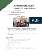 INFORME DE PROYECTOS - SEDE LA FLORIDA 2019