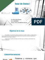 Diseño de Base de Datos I