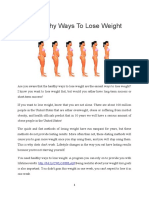 9 Healthy Ways to Lose Weight