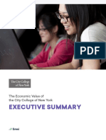 EMSI CCNY Economic Impact Report Executive Summary