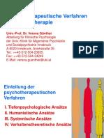 Psychotherapeutische Verfahren Kognitive Verhaltenstherapie Manuskript
