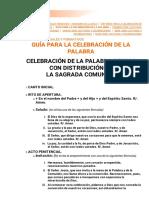 GUÍA PARA LA CELEBRACIÓN DE LA PALABRA