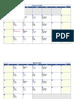 2020 Meeting Schedule