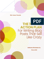 The 10 Step Action Plan for Writing Blog Posts That Sell Like Crazy