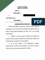 Falo Kane Public Complaint