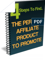 4 Steps To Find The Perfect Affiliate Product To Promote