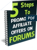Promoting Affiliate Products On Forums - 5 Steps To Success