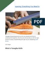 Yanagiba Sharpening