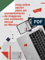 Carta técnica sobre penalización y difusión sin consentimiento de imágenes con contenido sexual en México