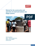 10. Manual for the construction and operation of small and medium size biogas systems
