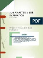JOB ANALYSIS & JOB EVALUATION