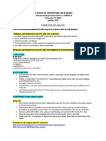 Project site analysis format