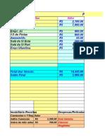 Planilha de gastos