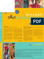 Flyer Exposition Ensemble l'Art Contemporain 2020