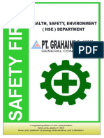 HEALTH, SAFETY, ENVIRONMENT ( HSE ) DEPARTMENT PT. GRAHAINDO JAYA GENERAL CONTRACTOR - PDF