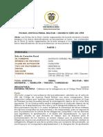 FICHAS JUSTICIA PENAL MILITAR (DECRETO 0250 DE 1958).FI