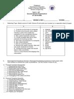 TLE 9 - ICT 2nd Quarter Exam