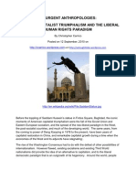 American Capitalist Triumphal Ism and the Liberal Human Rights Paradigm