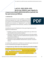 Comentarios al D.S. 002-2019-JUS, reglamento de la Ley 30414, que regula la responsabilidad administrativa (penal) de las personas jurídicas _ Legis.pe