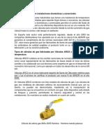 Las válvulas de gas en instalaciones domésticas y comerciales
